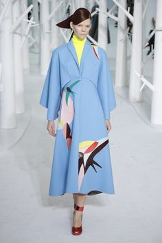 Beautiful color and print -   Delpozo Fall 2015.Read more about Josep Font on WWD.com