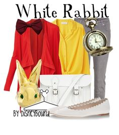 White Rabbit by leslieakay on Polyvore featuring polyvore, fashion, style, Witchery, Cacharel, dVb Victoria Beckham, Chloé, The Cambridge Satchel Company, Me & Zena, Disney and clothing