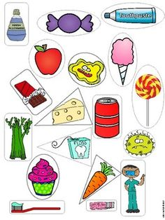 Dental Health Sorting Activity and Mini Posters - Todo Sobre La Salud Bucal 2020 Health Activities, Sorting Activities, Autism Activities, Five Senses Preschool, Dental Kids, Poster S, Dental Health, Oral Health, Health Tips