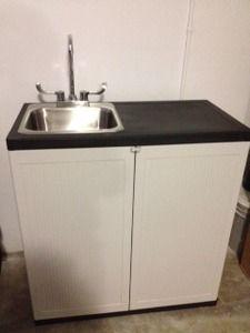 portable sink handwash station hot u0026 cold water