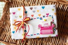Cute little gift box made with Amy Tangerine products