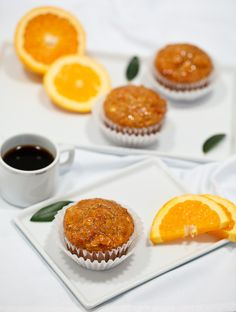 These healthy morning glory muffins are baked with carrots and whole grains and are all good for you. This recipe has a great orange-cinnamon flavor. Healthy Muffin Recipes, Healthy Muffins, Healthy Desserts, Breakfast Recipes, Zucchini Muffins, Healthy Foods, Healthy Eating, Protein Muffins, Breakfast Muffins