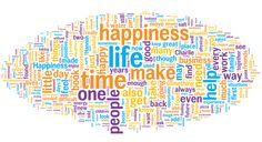 See the 500 most-used words in the book Recipe for Happiness and find out how to make your own Wordle Word Cloud