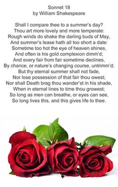 sonnet 18 a love poem Category: poetry poem title: sonnet 18 by william shakespeare my account sonnet 18 by william shakespeare 'sonnet 130' takes the love poem to a deeper.