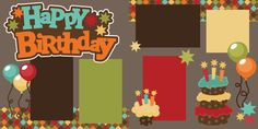 PPbN Designs - Happy Birthday Scrapbook Page Kit Cut, $1.99 (http://www.ppbndesigns.com/happy-birthday-scrapbook-page-kit-cut/)