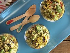 Charred Corn Salad with Creamy Tomatillo Dressing Recipe : Food Network