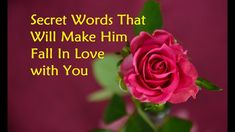 Secret Words That Will Make Him Fall In Love with You