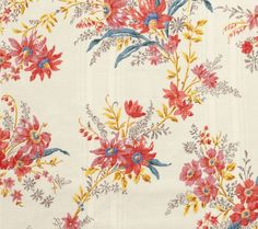Ete Moscovite fabric by Decors Barbares. Comes in cotton, linen voile, linen cloth.