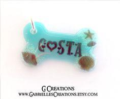 Sea Bone Dog Tag Glow In The Dark Summer by GabriellesCreations
