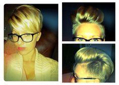 Cool cool cool.  Pixie with undercut & pompadour option! #ladypompadour #shorthair