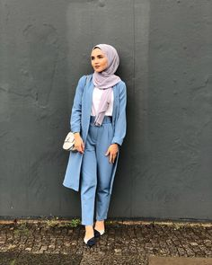 Hijab Fashion Summer, Modest Fashion Hijab, Modern Hijab Fashion, Hijab Chic, Muslim Fashion, Fashion Outfits, Stylish Hijab, Modest Work Outfits, Mode Kimono