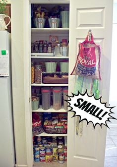 this post is about a small pantry, my new house actually has no pantry so Micah will have to build one.