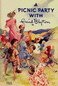 Maybe the chill-out zone could be an Enid Blyton picnic - grass rug and checkered ground-cloths. Old Children's Books, Vintage Children's Books, My Books, Enid Blyton Books, Book Of Circus, Tea And Books, Children's Book Illustration, Book Illustrations, Books For Teens