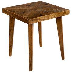 Interlude Home Vintage Patchwork Side Table 158036