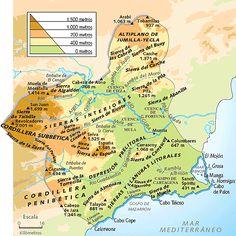 La Región de Murcia es una de las regiones más llanas, ya que la única muestra de sistema montañoso es al oeste, con las últimas sierras que forman la Cordillera Subbética.
