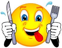 9 Happy Eating Smiley-Face Emoticon Images - Smiley-Face Eating ...