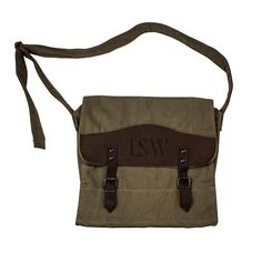 45897d564f55 Personalized Canvas   Leather Messenger Bag