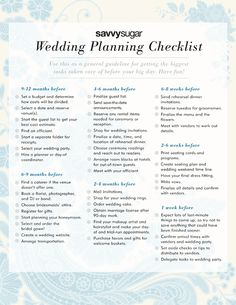 day-of wedding schedule - great tips for planning out your wedding ...