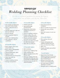 Wedding Planning Checklist one-day