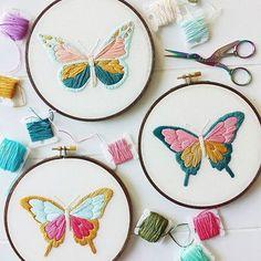 Butterfly PDF embroidery pattern.                                                                                                                                                                                 Más