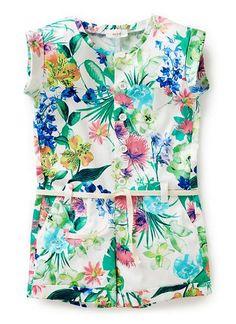 Girls Dresses & Tunics | Printed Playsuit | Seed Heritage