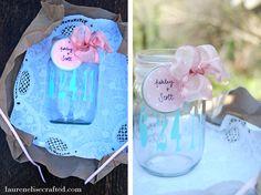 Lauren Elise Crafted - Blog - Crafted DIY: Silhouette MasonJars