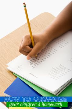 Do you struggle with organization during the school year? Here are a few ways you can organize homework with your child.