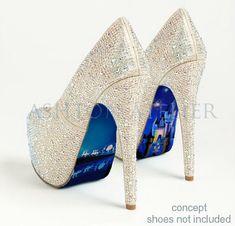 Custom hand painted Cinderella's Castle and Coach by AshtonAtelier