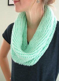 DIY Knit Circle Scarf.