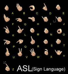 Learn sign language- Kenyon really wants to learn. Something we all should learn