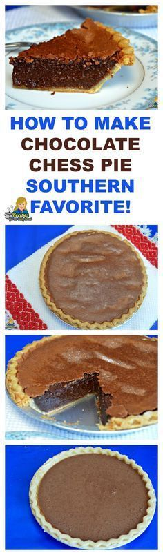 HOW TO MAKE CHOCOLATE CHESS PIE A SOUTHERN FAVORITE! @PrincessPinkyGirl Print Recipe Here: http://princesspinkygirl.com/chocolate-chess-pie/