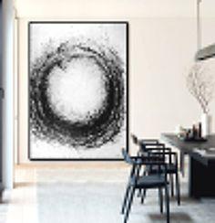 Große abstrakte Kunst handgemachte Acrylmalerei von CelineZiangArt