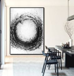 Large Abstract Art Hand Made Acrylic Painting par CelineZiangArt