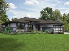 <ul><li>This Prairie-inspired 3 bed house plan was designed to be highly flexible and easily modifiable to suit multiple homeowner requirements. Elements such as the arrangement of great room built-ins and use of flexible spaces make customization a breeze.</li><li>An open concept layout greets you as you enter the foyer with the combined living room and dining room area open to the kitchen. The kitchen has a large pantry off the garage entry for easy grocery unloading.</li><li>A large…