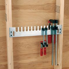 Clamp storage and organization