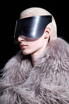 """Alexander McQueen """"Visors"""" sunglasses, Fall 2012...BEYOND!!!!"""