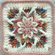 CROCHET #RAISED #GRANNY #SQUARE  =NO DIAGRAM OR PATTERN=