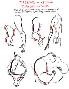 Disney Story Artist Dave Pimentel discusses tapering body shapes in your drawings (or CG poses for that matter). Full article here: http://drawingsfromamexican.blogspot.ca/2010/04/tapering-body-shapes.html
