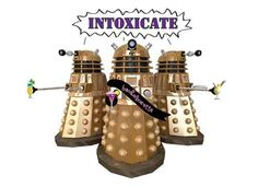 Daleks like to party: Whovian bachelorette party invitations