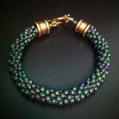 Kumihimo turquoise bracelet