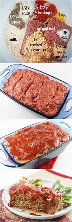 This is the BEST meatloaf you will ever eat. If you have meatloaf qualms, set them aside and try this!
