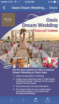Oasis Dream Wedding Giveaway
