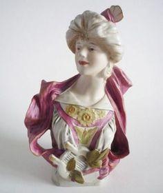 Royal Dux 'Lady with Lyre' Art Nouveau Bust c1900