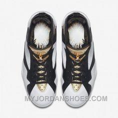 wholesale dealer 20c44 9ebef Authentic 725093-140 Air Jordan 7 Retro C C White Metallic Gold-Black 2kHmP