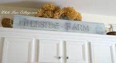 Vintage Farmhouse Sign - White Lace Cottage