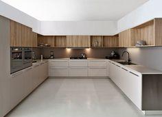 Lacquered wooden #kitchen TWELVE by Varenna by Poliform   #design ...