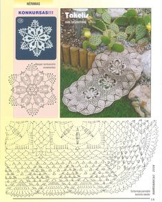 Oval doily with diagram, click to enlarge image