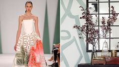 Try out these interior designs inspired by spring 2015 fashion trends.