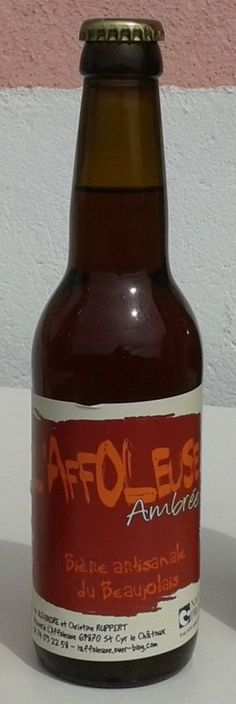 Cerveja L'Affoleuse Ambrée, estilo American Amber Ale, produzida por L'Affoleuse, França. 5% ABV de álcool.