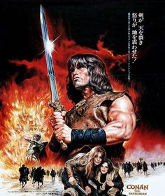 'Conan The Barbarian Movie Poster Japanese' by popculturegang Disney Movie Posters, Cinema Posters, Movie Poster Art, Poster S, Poster Prints, Conan The Barbarian Movie, Conan Movie, Posters Vintage, Vintage Movies